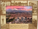 Portland Oregon Laser Engraved Wood Picture Frame