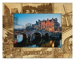 Netherlands Laser Engraved Wood Picture Frame (5 x 7)
