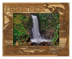 Costa Rica Laser Engraved Wood Picture Frame (5 x 7)