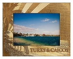 Turks and Caicos Laser Engraved Wood Picture Frame (5 x 7)
