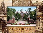 St. Norbert College Engraved Wood Picture Frame (5 x 7)