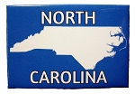 North Carolina Blue Fridge Magnet