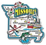 Missouri Jumbo State Map Fridge Magnet