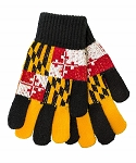 Maryland Flag Knit Gloves