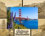 California The Golden State Laser Engraved Wood Picture Frame (5 x 7)