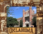 University of Oklahoma Laser Engraved Wood Picture Frame (5 x 7)