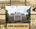 University of Wisconsin Madison Laser Engraved Wood Picture Frame