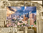 Houston Texas Laser Engraved Wood Picture Frame (5 x 7)