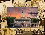 Philadelphia Pennsylvania Laser Engraved Wood Picture Frame (5 x 7)