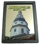 Annapolis Maryland with Capitol Dome Mirror Fridge Magnet