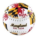 Maryland Flag Souvenir Baseball