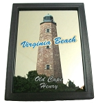 Virginia Beach Old Cape Henry Lighthouse Mirror Fridge Magnet