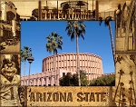 Arizona State University Laser Engraved Wood Picture Frame