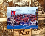 Boise State University Laser Engraved Wood Picture Frame (5 x 7)