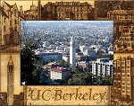 University of Berkeley California Laser Engraved Wood Picture Frame