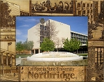 California State University Northridge Laser Engraved Wood Picture Frame (5 x 7)