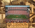 Clemson University Laser Engraved Wood Picture Frame