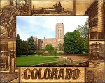 University of Colorado Boulder Laser Engraved Wood Picture Frame (5 x 7)