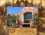 University of Florida Laser Engraved Wood Picture Frame (5 x 7)