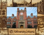 University of Idaho Engraved Wood Picture Frame