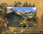 Rocky Mountain National Park with Moose Engraved Wood Picture Frame (5 x 7)