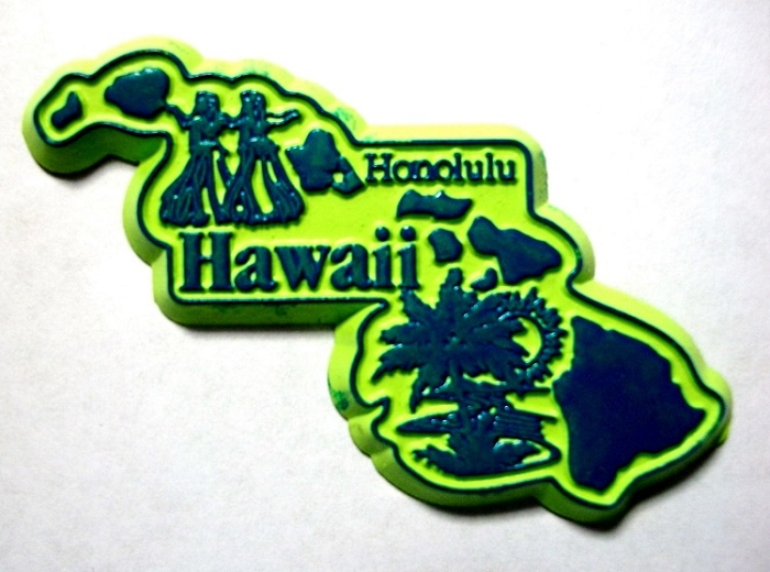 Hawaii The Aloha State Artwood Jumbo Fridge Magnet