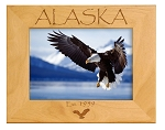 Alaska Est. 1959 Laser Engraved Wood Picture Frame (5 x 7)