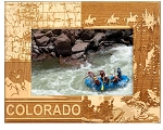 Colorado Laser Engraved Wood Picture Frame