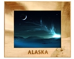 Alaska with Polar Bears Laser Engraved Wood Picture Frame (5 x 7)