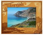 California Monterey Coast Laser Engraved Wood Picture Frame