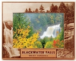 Blackwater Falls State Park West Virginia Laser Engraved Wood Picture Frame (5 x 7)