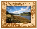 Minnesota Laser Engraved Wood Picture Frame