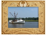 South Carolina with Shrimp Laser Engraved Wood Picture Frame