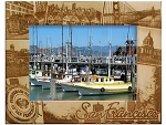 San Francisco Collage Laser Engraved Wood Picture Frame (5 x 7)