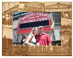 Chicago Illinois Landmarks Laser Engraved Wood Picture Frame (5 x 7)