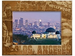 Los Angeles Collage Laser Engraved Wood Picture Frame (5 x 7)
