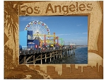 Los Angeles Border Style Laser Engraved Wood Picture Frame (5 x 7)
