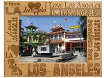 I Love Los Angeles Laser Engraved Wood Picture Frame