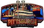Pittsburgh Skyline Fridge Magnet