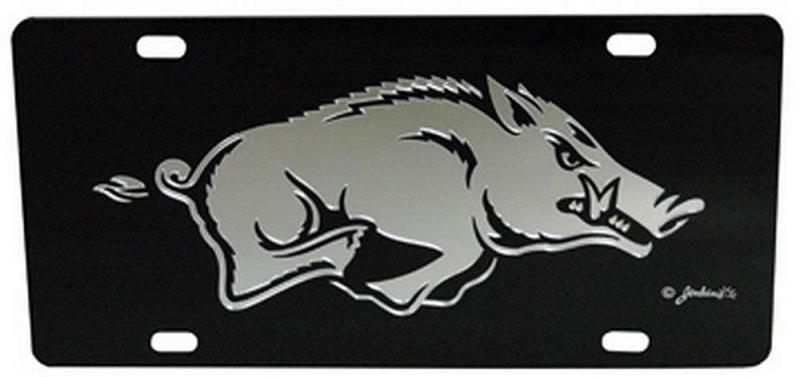 Arkansas Razorbacks Black Mirror License Plate Ncaa