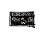 South Dakota State Outline Fridge Magnet