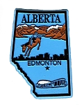 Alberta Edmonton 4 Color Canadian Province Fridge Magnet