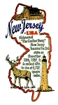 New Jersey The Garden State Outline Montage Fridge Magnet