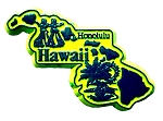 Hawaii Honolulu United States Fridge Magnet