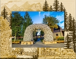 Jackson Hole Wyoming Laser Engraved Wood Picture Frame