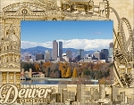Denver Colorado Laser Engraved Wood Picture Frame