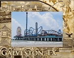 Galveston Texas Laser Engraved Wood Picture Frame (5 x 7)