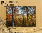 Blue Ridge Georgia Laser Engraved Wood Picture Frame (5 x 7)