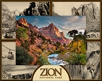 Zion National Park Utah Quad Laser Engraved Wood Picture Frame