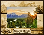 Grand Teton National Park Laser Engraved Wood Picture Frame (5 x 7)